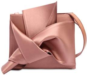N°21 Bow Satin & Leather Shoulder Bag