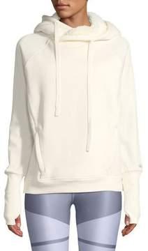 Alo Yoga Frost Sherpa Hooded Pullover Sweatshirt