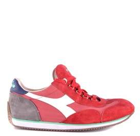 Diadora Heritage Men's Red Suede Sneakers.