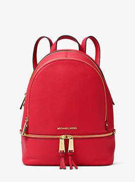 Michael Kors Rhea Medium Leather Backpack - RED - STYLE