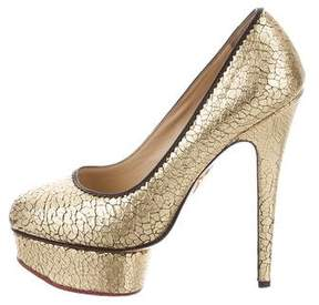 Charlotte Olympia Metallic Dolly Pumps