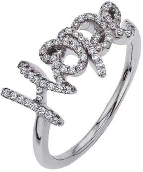 Armani Exchange Jewelry Diamond HOPE Ring in Sterling Silver