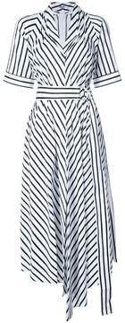 ADAM by Adam Lippes asymmetric stripe dress