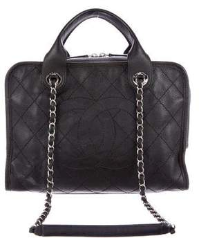 Chanel 2015 Quilted Deauville Bowling Bag
