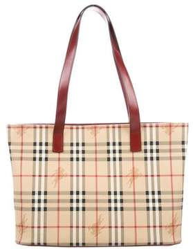 Burberry Haymarket Check Shopper Tote