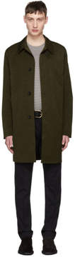 Paul Smith Khaki Unlined Mac Coat