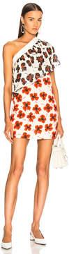 Fausto Puglisi One Shoulder Floral Dress