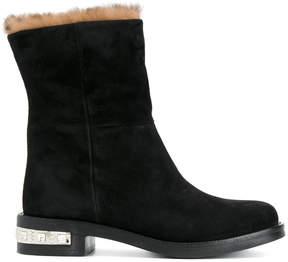 Miu Miu boots with heel embellishment