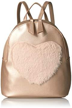 T-Shirt & Jeans Faux Fur Heart Mini Back Pack