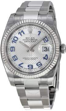 Rolex Oyster Perpetual 36 mm Silver Dial Stainless Steel Bracelet Automatic Men's Watch