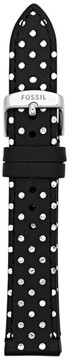 Fossil Leather 18mm Watch Strap - Polka Dots