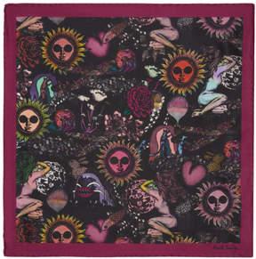 Paul Smith Purple 1974 Pocket Square