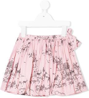 Simple meadow print skirt