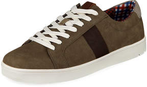 Ben Sherman Men's Lorin Perforated Suede Sneakers