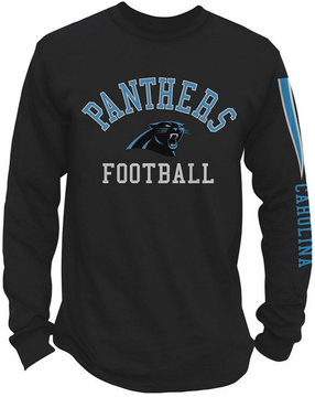 Authentic Nfl Apparel Men's Carolina Panthers Spread Formation Long Sleeve T-Shirt