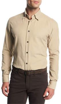 Brioni Corduroy Sport Shirt, Tan