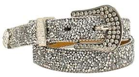 Ariat A1520801-XL 1 in. Womens 1 in. Cluster Crystall Rhinestone Belt, Silver - Extra Large
