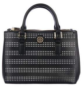 Tory Burch Robinson Perforated Micro Double Zip Tote