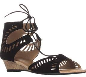 Esprit Carol Lace Up Wedge Sandals, Black.