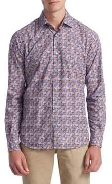 Saks Fifth Avenue COLLECTION Printed Button-Down Shirt
