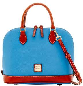 Dooney & Bourke Pebble Grain Zip Zip Satchel - AZURE - STYLE
