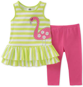 Kids Headquarters 2-Pc. Flamingo Tunic & Leggings Set, Little Girls