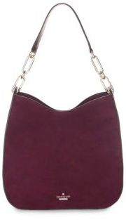 Kate Spade Sana Suede Shoulder Bag - DEEP WINE - STYLE