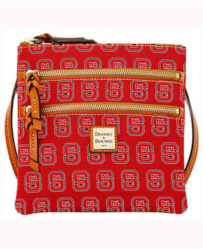 Dooney & Bourke North Carolina State Wolfpack Triple-Zip Crossbody Bag - RED - STYLE