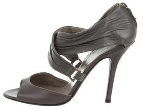 Alberta Ferretti Leather Crisscross Sandals