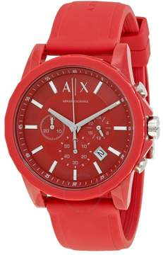 Armani Exchange Red Dial Chronograph Men's Watch