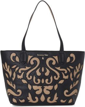 Patrizia Pepe Black & Beige Faux Leather Borsa Bag