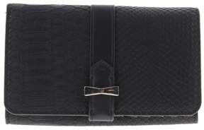 Nine West Womens Table Treasures Faux Leather Embossed Snake Clutch Wallet