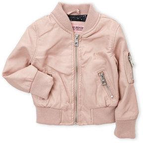 Urban Republic Infant Girls) Faux Leather Bomber Jacket