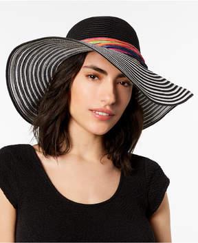 Betsey Johnson Stripe Me Over Floppy Hat