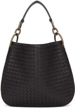 Bottega Veneta Black Small Intrecciato Hobo Bag