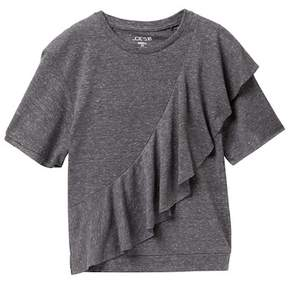 Joe's Jeans Melange Jersey Ruffle Tee (Big Girls)