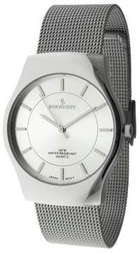Peugeot Watches Men's Mesh Bracelet Watch - Silver