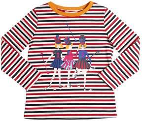 Sonia Rykiel Cheerleaders Print Cotton Jersey T-Shirt