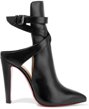 Christian Louboutin Pointipik 100 Leather Pumps - Black