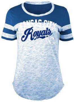5th & Ocean Women's Kansas City Royals Space Dye Cb Yoke T-Shirt