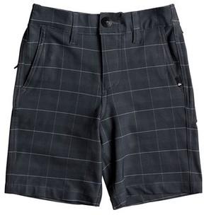 Quiksilver Boy's Union Plaid Amphibian Board Shorts