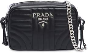 Prada Small Quilted Soft Leather Camera Bag