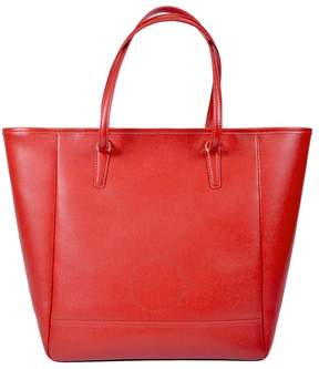Royce Leather Royce 24 Hour Executive Saffiano Leather Tote Bag - Red