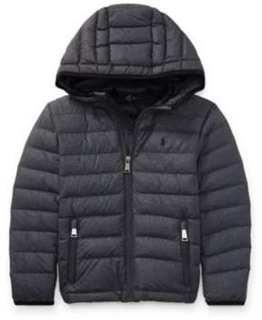 Ralph Lauren Packable Quilted Down Jacket Mechanic Grey 2T