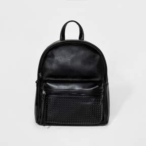 Mossimo Women's Mini Backpack with Laser Cut Front Pocket Black