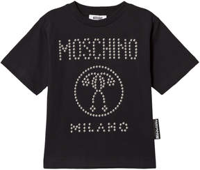 Moschino Black Studded Logo Tee