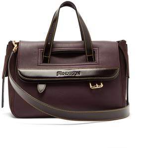 J.W.Anderson Tool mini suede and leather shoulder bag