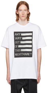 Raf Simons White Any Way Out of This Nightmare Easy Fit T-Shirt
