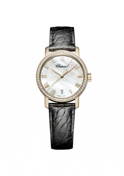 Chopard Classic White Mother of Pearl Dial 18 Carat Rose Gold Men's Watch