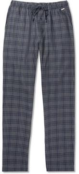 Hanro Checked Cotton-Flannel Pyjama Trousers